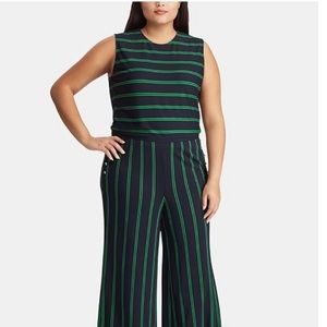 Ralph Lauren Striped Varsity-Inspired Jumpsuit
